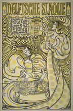 Affiche Delftsche slaolie Jan Toorop fotobehang Kleurmijninterieur Kunst---Ambiance