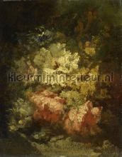 Stilleven met witte en rode rozen narcisse Virgile fotobehang Kleurmijninterieur Kunst Ambiance