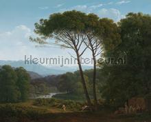 Italiaans landschap met pijnbomen Hendrik Voogd fotobehang Kleurmijninterieur Kunst Ambiance
