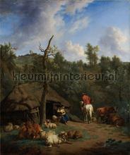 De Hut Adriaen van de Velde fotobehang Kleurmijninterieur Kunst---Ambiance