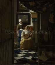 De liefdesbrief Johannes Vermeer fotobehang Kleurmijninterieur Kunst Ambiance