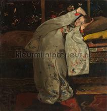 Meisje in witte kimono George Hendrik Breitner fotobehang Kleurmijninterieur Kunst---Ambiance