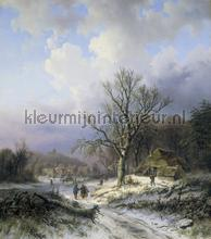 Snow landscape Alexander Joseph Daiwaille fotobehang Kleurmijninterieur Kunst Ambiance