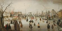 Ice skating in a village Hendrick Avercamp photomural Kleurmijninterieur all-images
