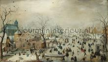Winterlandschap met schaaters Hendrick Avercamp fototapet Kleurmijninterieur All-images