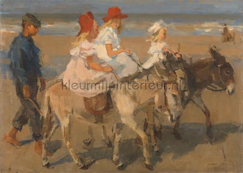 Donkey Rides on the beach Isaac Israels fotobehang 0018 Kunst - Ambiance Kleurmijninterieur