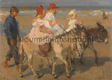 Donkey Rides on the beach Isaac Israels photomural Kleurmijninterieur all-images
