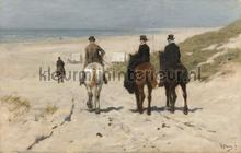 Morning ride along the beach Anton Mauve fototapet Kleurmijninterieur All-images