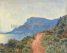 La corniche bij Monaco Claude Monet fotobehang Kleurmijninterieur Kunst Ambiance