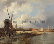 Gezicht op den Daag Cornelis Springer fotobehang Kleurmijninterieur Kunst Ambiance