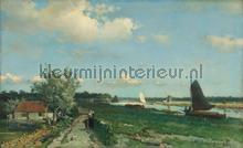 De trekvliet bij Rijswijk gezicht bij de Geestbrug fotobehang Kleurmijninterieur Kunst Ambiance