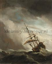 Ship on the high seas caught by a squall the gust photomural Kleurmijninterieur all-images