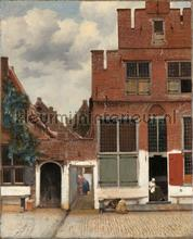 View of houses in Delft the little street Johannes photomural Kleurmijninterieur all-images