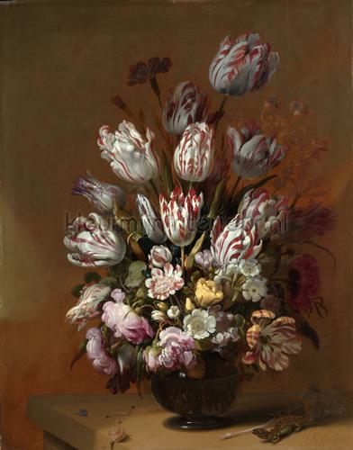 Stilleven met bloemen Hans Bollongier fotobehang 0028 Kunst - Ambiance Kleurmijninterieur