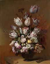 Stilleven met bloemen Hans Bollongier fotobehang Kleurmijninterieur Kunst---Ambiance