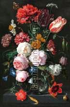Stilleven met bloemen in een glazen vaas fotobehang Kleurmijninterieur Kunst---Ambiance