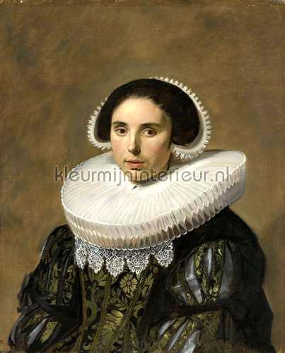 Portret van een vrouw Frans Hals fotobehang 0031 Kunst - Ambiance Kleurmijninterieur