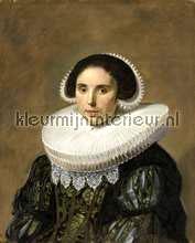 Portret van een vrouw Frans Hals fotobehang Kleurmijninterieur Kunst---Ambiance