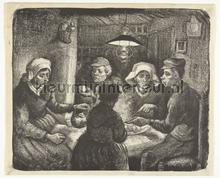 De aardappeleters Vincent van Gogh fotobehang Kleurmijninterieur Kunst---Ambiance