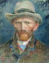 Zelfportret Vincent van Gogh fotobehang Kleurmijninterieur Kunst---Ambiance