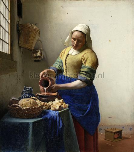 Het melkmeisje Johannes Vermeer fotobehang 0037 Kunst - Ambiance Kleurmijninterieur