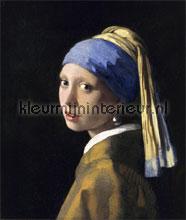 Meisje met de parel Johannes Vermeer fotobehang Kleurmijninterieur Kunst---Ambiance
