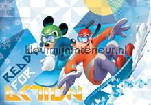 Mickey and Pluto change fotobehang Kleurmijninterieur Disney---Pixar