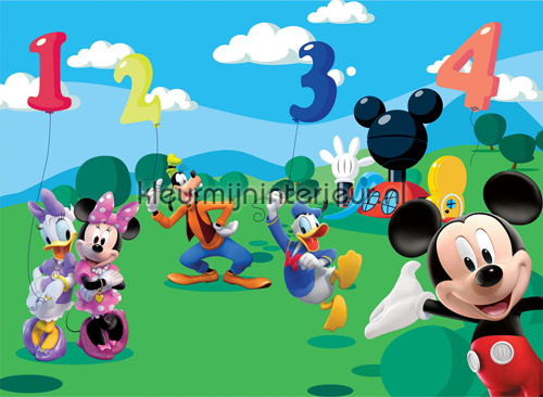 Minnie Mouse and friends photomural Mickey Mouse Kleurmijninterieur ...