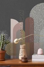 Boorgvormen seventies gevoel fotobehang BN Wallcoverings Grafisch Abstract
