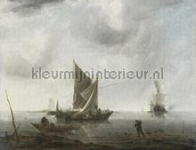 Anchored ships fotobehang Dutch Wallcoverings Kunst Ambiance