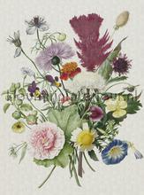 Flower bucket fotobehang Dutch Wallcoverings Painted Memories 8003