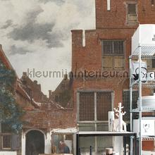 View of houses in Delft fotobehang Dutch Wallcoverings Kunst Ambiance