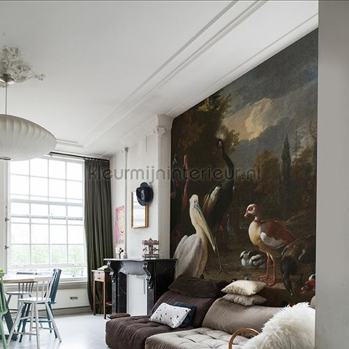 The floating feather fotomurales 8014 Painted Memories Dutch Wallcoverings