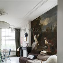 The floating feather fotobehang Dutch Wallcoverings Kunst Ambiance