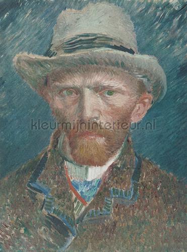 Self portrait Van Gogh fotomurales 8015 Painted Memories Dutch Wallcoverings