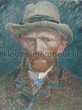 Self portrait Van Gogh fotobehang Dutch Wallcoverings Painted Memories 8015