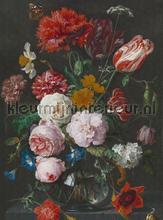 Flowers in a glass vase fotobehang Dutch Wallcoverings Painted Memories 8018