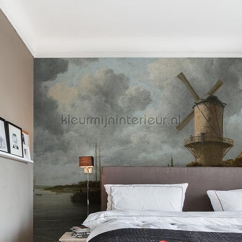 The Windmill fotobehang 8023 Kunst - Ambiance Dutch Wallcoverings