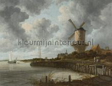 The Windmill fotobehang Dutch Wallcoverings Kunst Ambiance