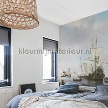 Dutch ships fotobehang Dutch Wallcoverings Kunst Ambiance