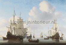 Dutch ships fotobehang Dutch Wallcoverings Painted Memories 8024