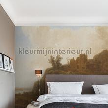 Castle ruins fotobehang Dutch Wallcoverings Kunst Ambiance