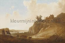 Castle ruins fotobehang Dutch Wallcoverings Painted Memories 8025