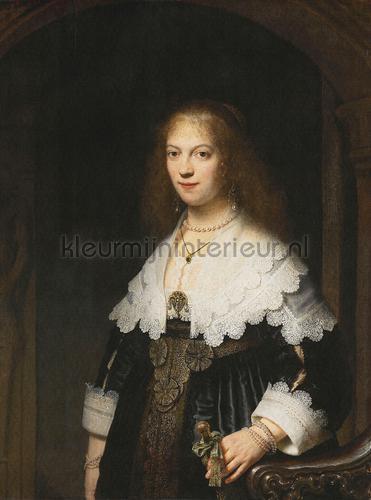 Portrait of a woman fotomurales 8029 Painted Memories Dutch Wallcoverings