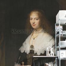 Portrait of a woman fotobehang Dutch Wallcoverings Kunst Ambiance