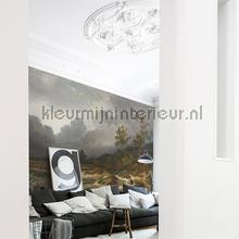 Approching thunderstorm fotobehang Dutch Wallcoverings Kunst Ambiance
