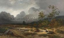 Approaching thunderstorm fotobehang Dutch Wallcoverings Kunst Ambiance