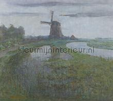 Mill in the moonlight fotomurais Dutch Wallcoverings PiP studio wallpaper
