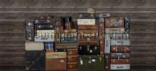 Stacked Suitcases Piles fotobehang Rebel Walls Passion r14061