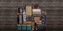 Stacked Suitcases Heap fotobehang Rebel Walls Passion r14062